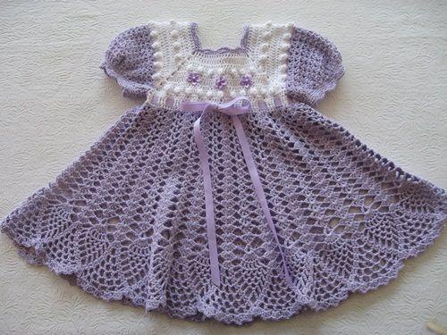 Vestidos a crochet paso a paso para bebé imagui o patrones - Imagui