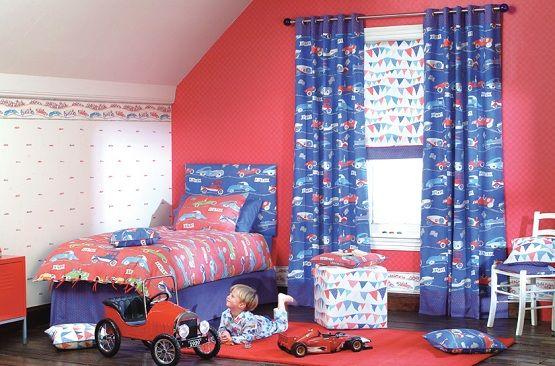 Cute Kid Curtain Bedding Sets For Boys
