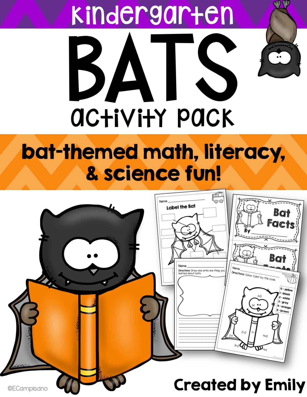 Celebrate October With This Fang Tastic Bat Themed Activity Pack Perfect For Adding Some Fun Or Supplementing A Bats Unit