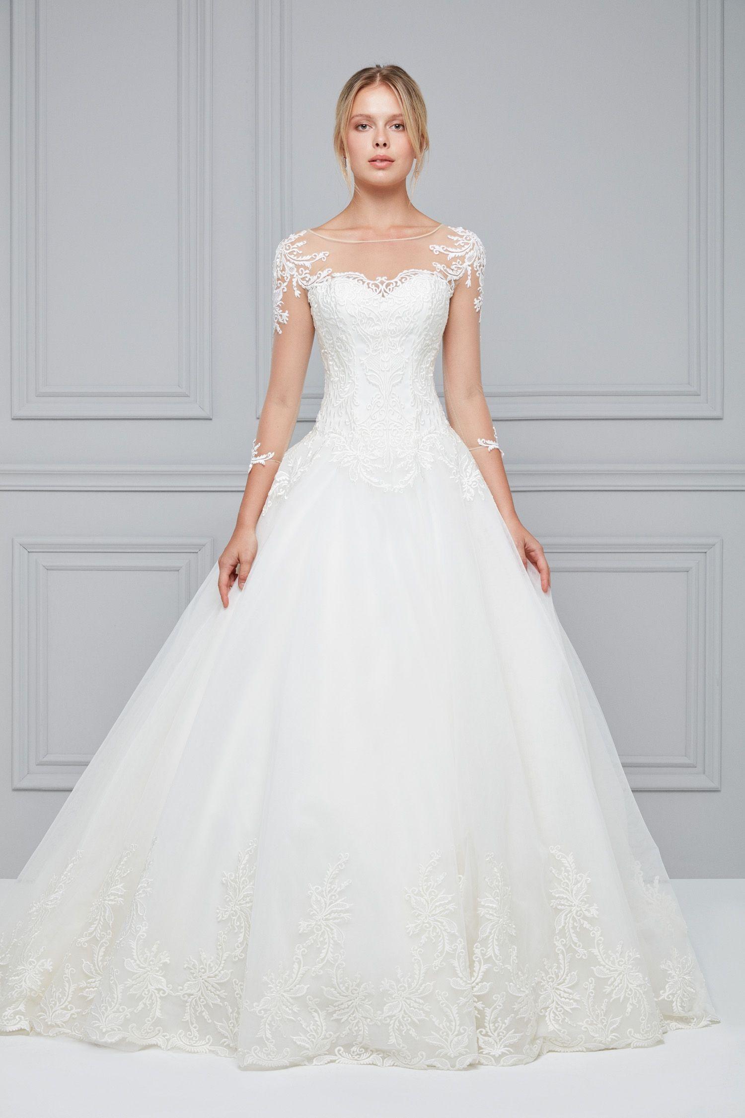 Uzun Kollu A Kesim Gelinlik | Dreamy dresses | Pinterest | Wedding ...