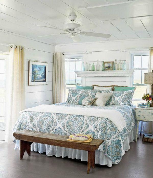 16 Beach Style Bedroom Decorating Ideas | Coastal style, Planked ...