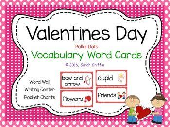 Valentines Day Vocabulary Word Cards  Polka Dot  Friendship