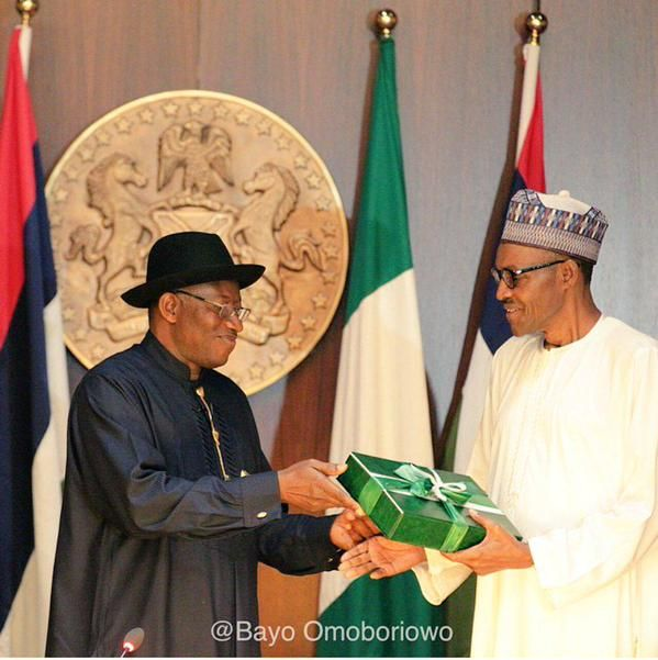 Image result for jonathan hands Buhari the confab report
