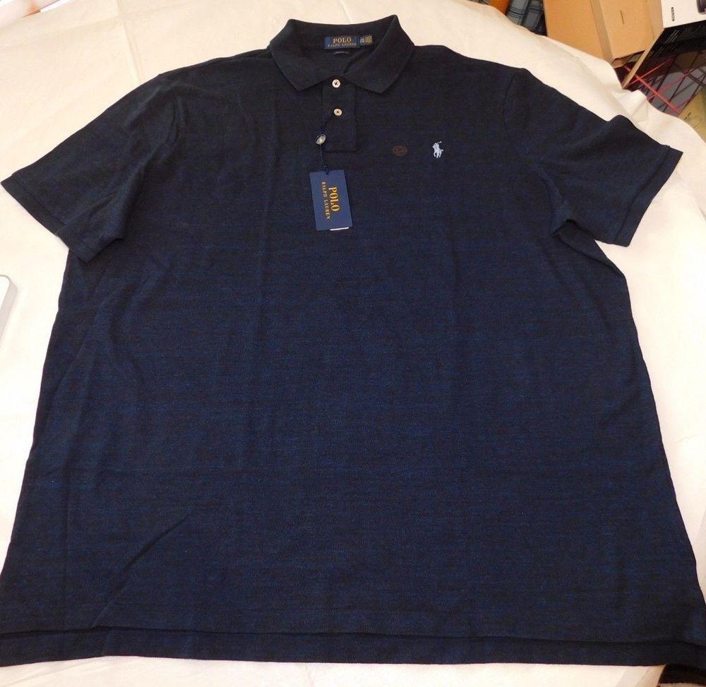 37ebe94d Polo Ralph Lauren Short Sleeve Polo Shirt XXL Classic Fit 735112 Navy  Heather #PoloRalphLauren #PoloShirt