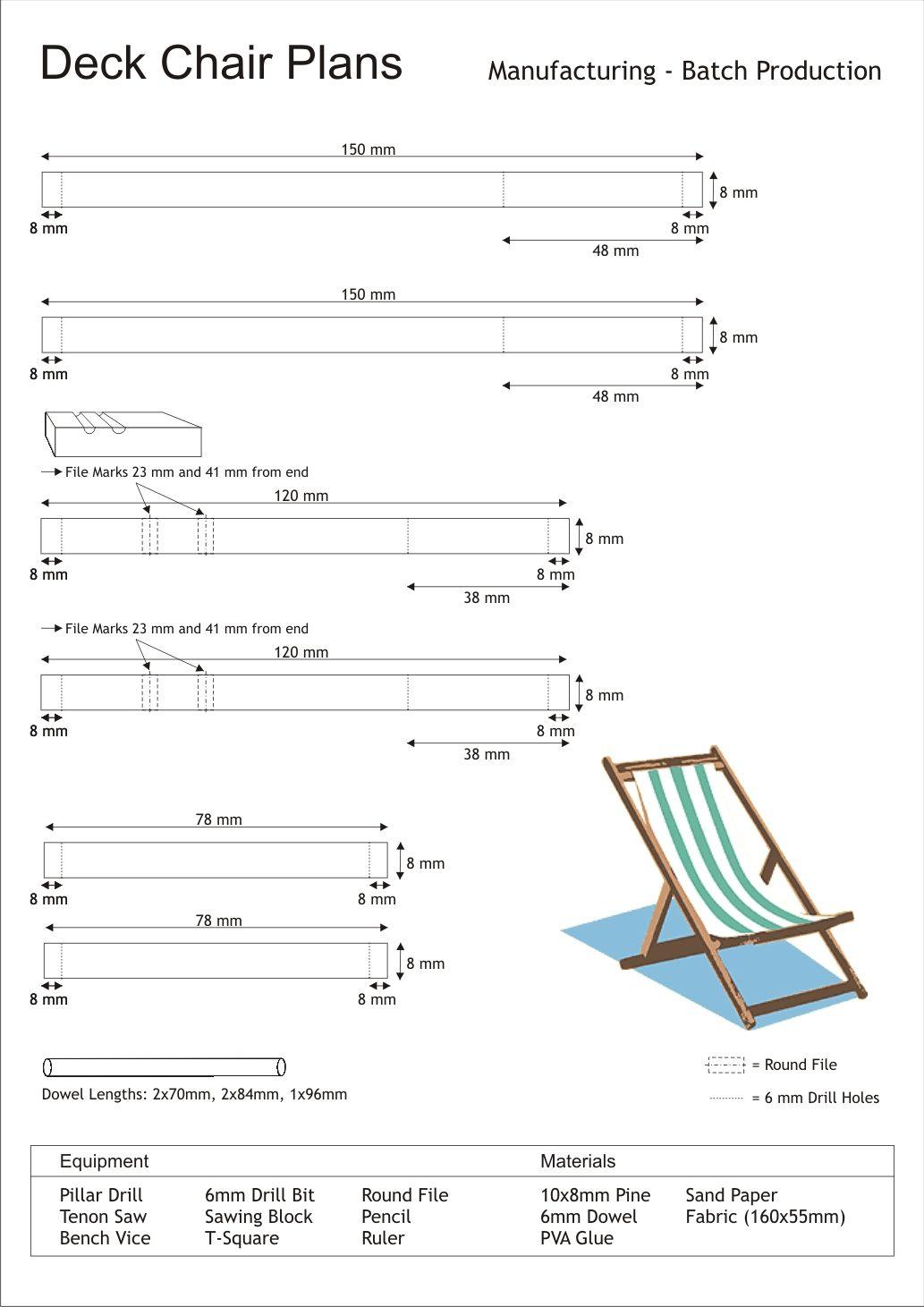 planos de cadeira de praia sillas pinterest deck chairs
