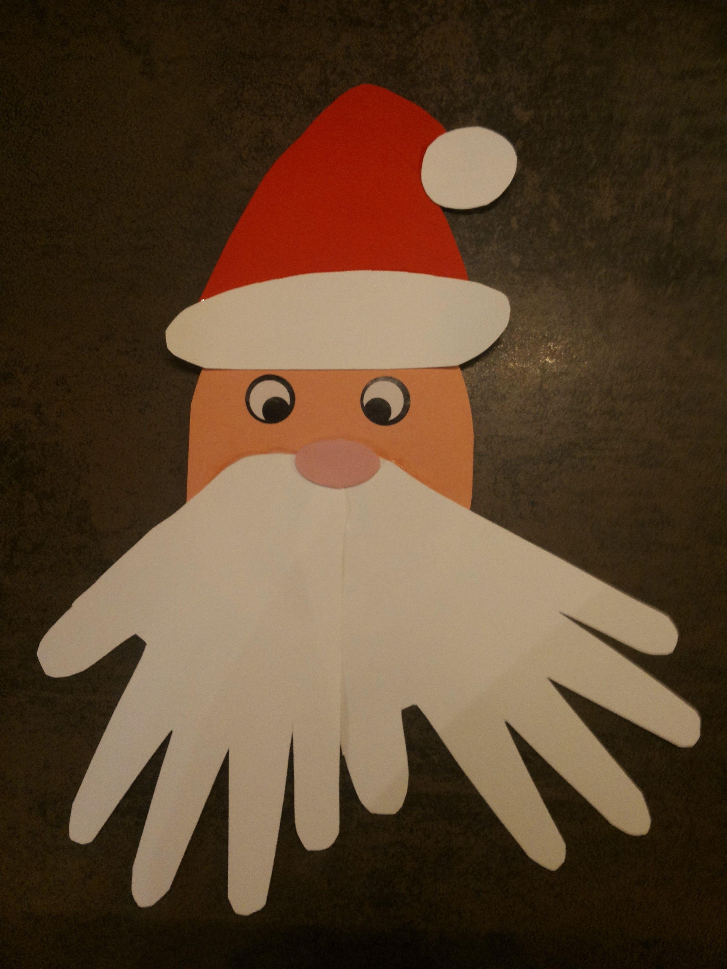 Babbo Natale Lavoretti.Lavoretti Con Le Manine Babbo Natale Bimbi Creativi Pinterest