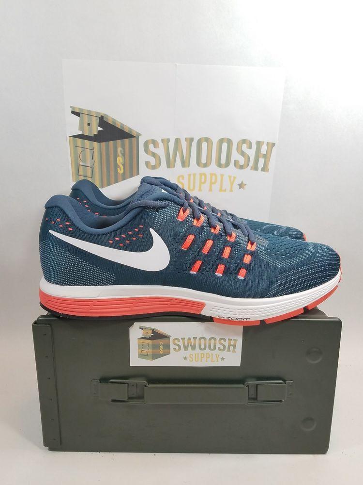 35c4988bcc3c NIKE Zoom Vomero 11 Mens Sz 12 Shoes Squadron Blue Crimson Orange 818099  401  Nike