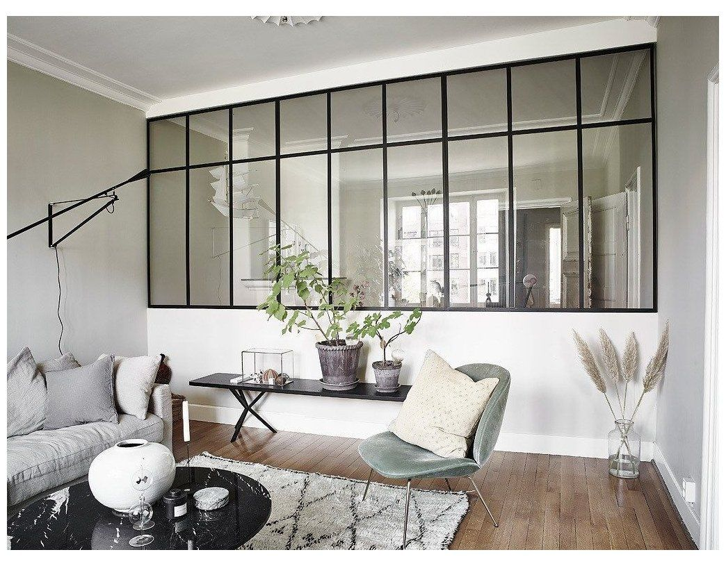 The Design Trend That S Taking Over Scandinavian Homes The Edit Glass Partition Designs Half Wa In 2020 One Room Flat Glass Partition Designs Glass Room Divider