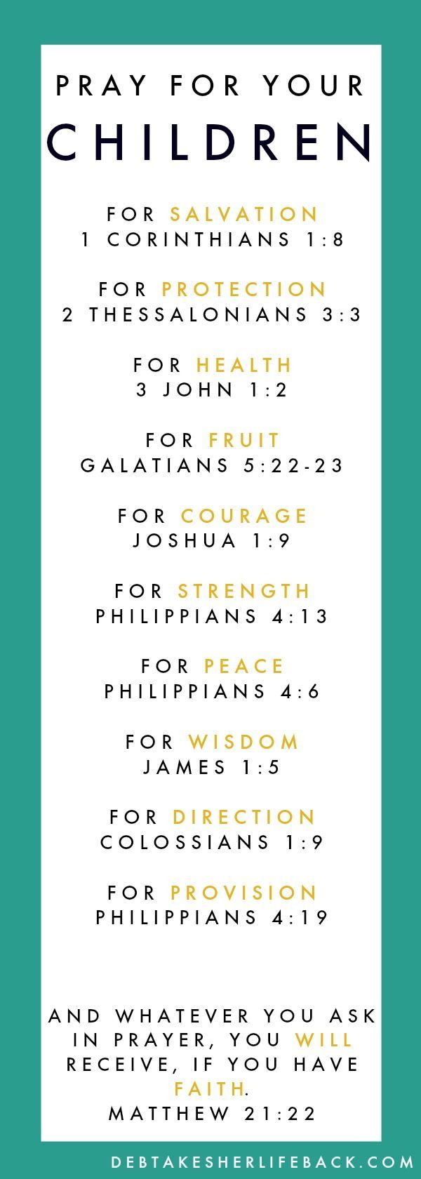 Pray For Your Family   Free printables, Bookmarks and Business cards