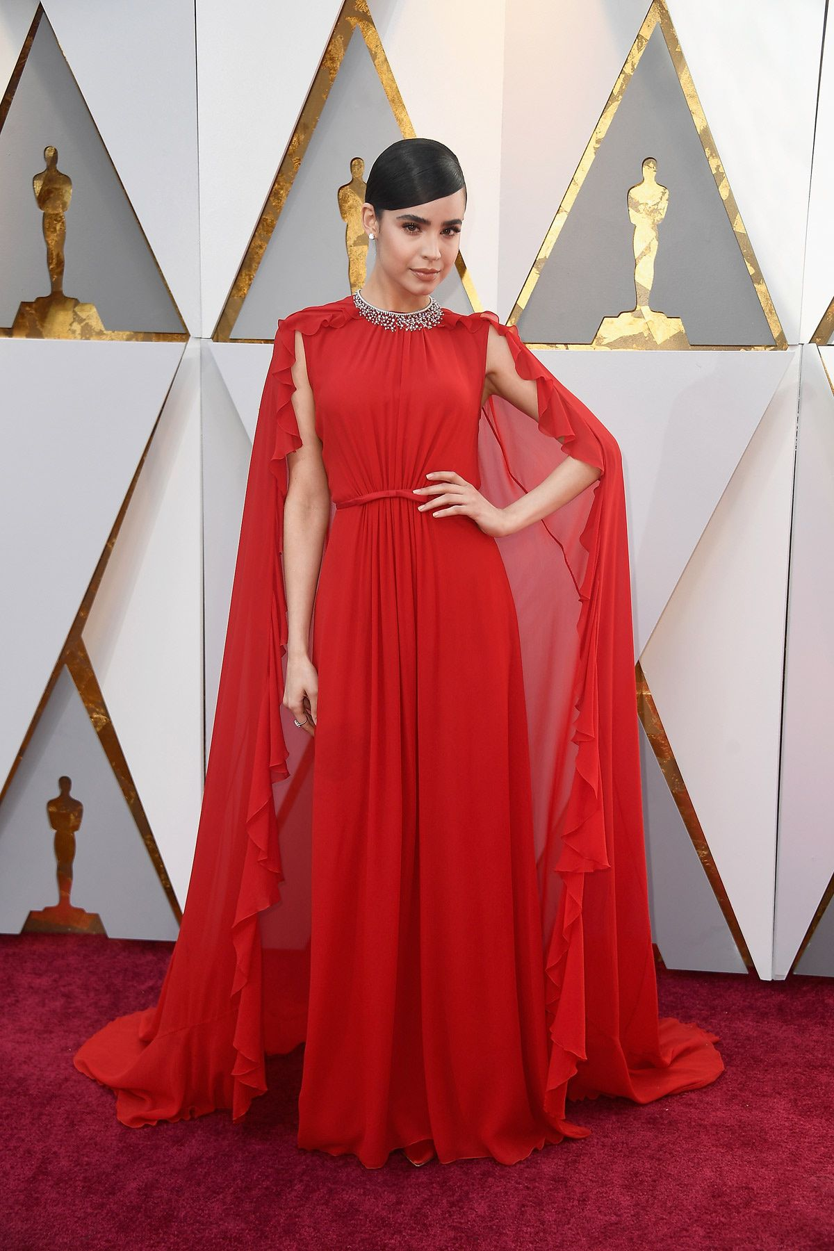 Sofia Carson In Giambattista Valli Attends The Oscars 2018