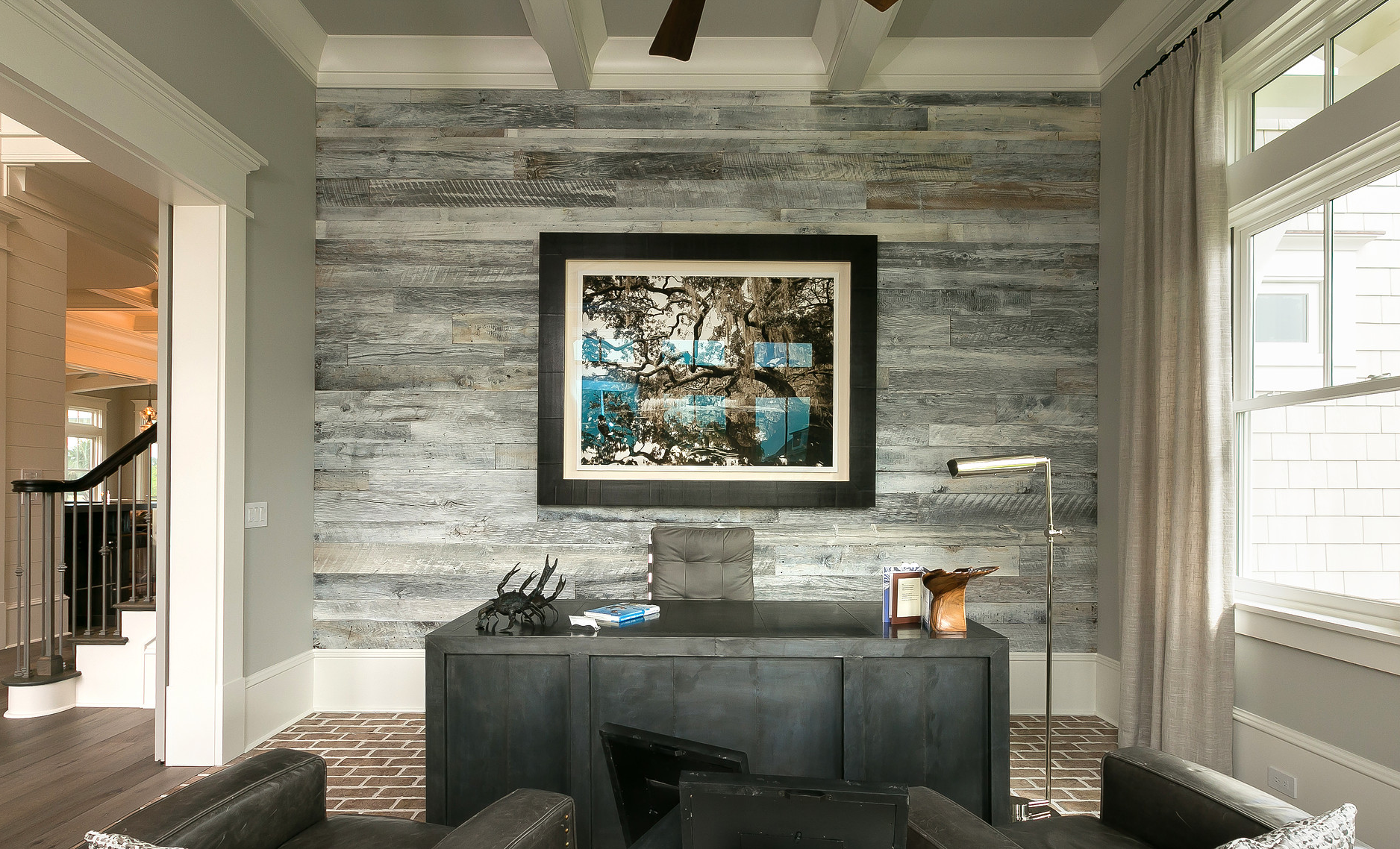 Prefinished White Barn Wood By Reclaimed Designworks Used For An