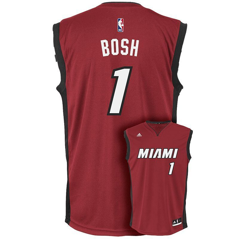 Men's Adidas Miami Heat Chris Bosh NBA Replica Jersey, ...