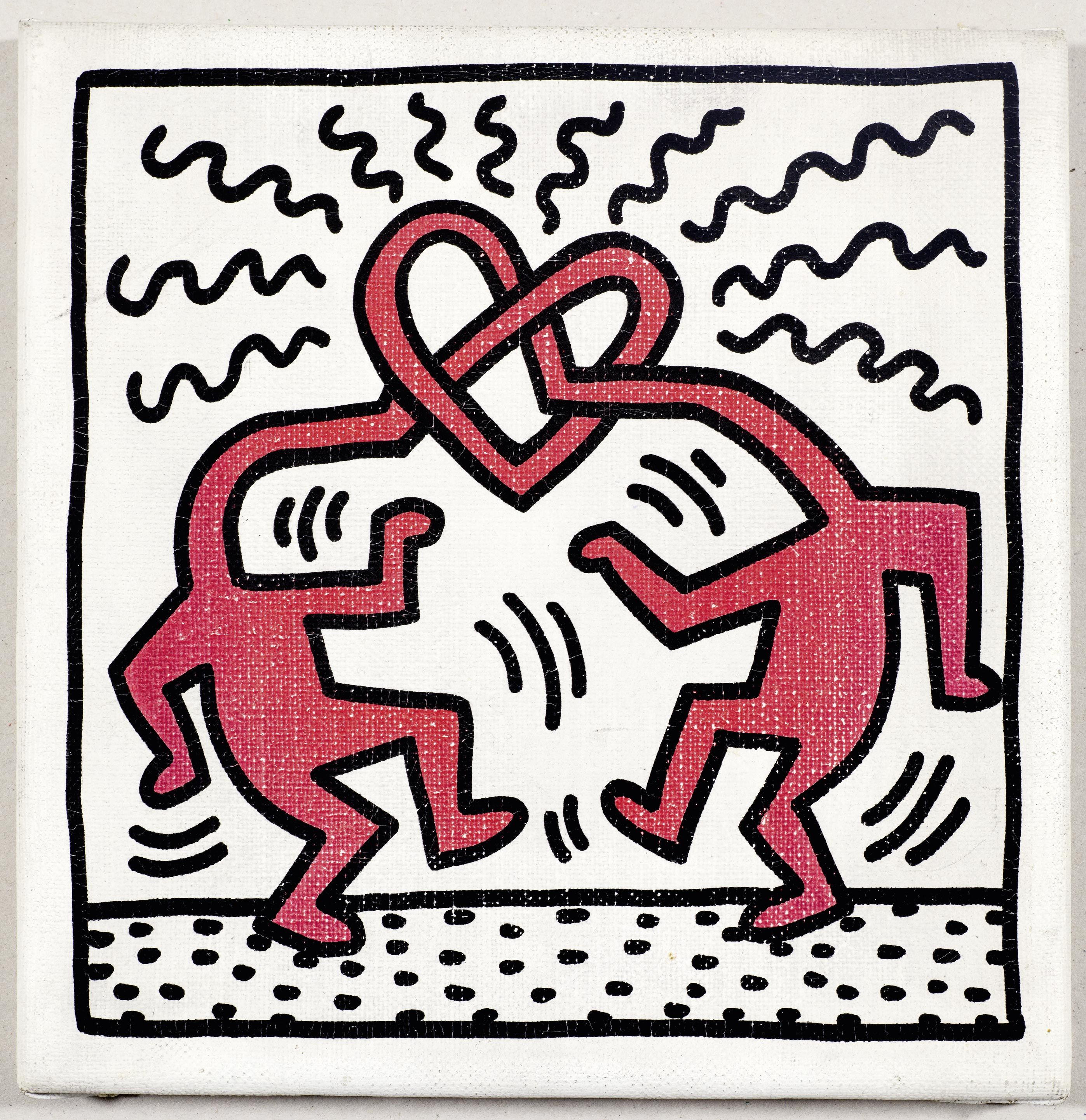 "Keith Haring (Reading/Pennsylvania 1958 - 1990 New York), ""Untitled"", 1989"