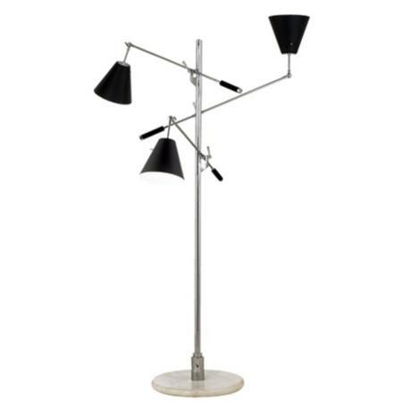 Sonneman Treluci Piccolo Black Floor Lamp