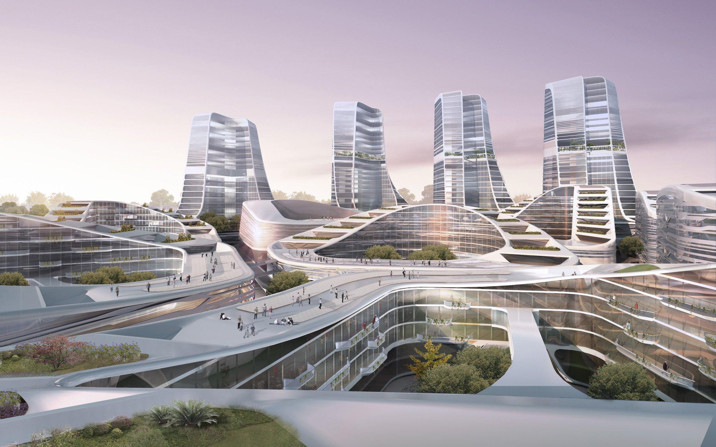 The buildings in the master plan for the International Investement Square  in Beijing fall in… | Skyscraper architecture, Futuristic architecture,  Revit architecture