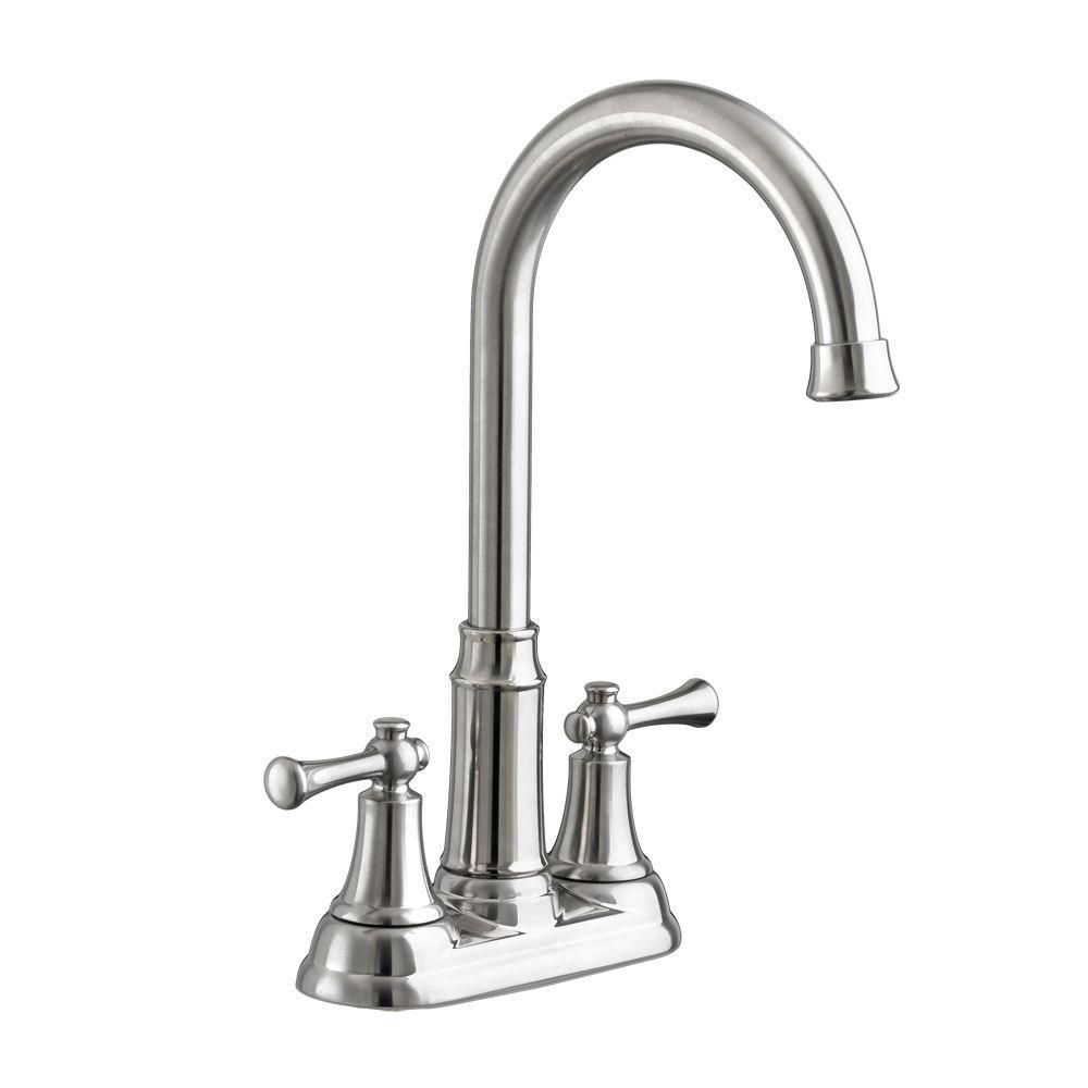American Standard Portsmouth 2-Handle Bar Faucet in Stainless Steel ...
