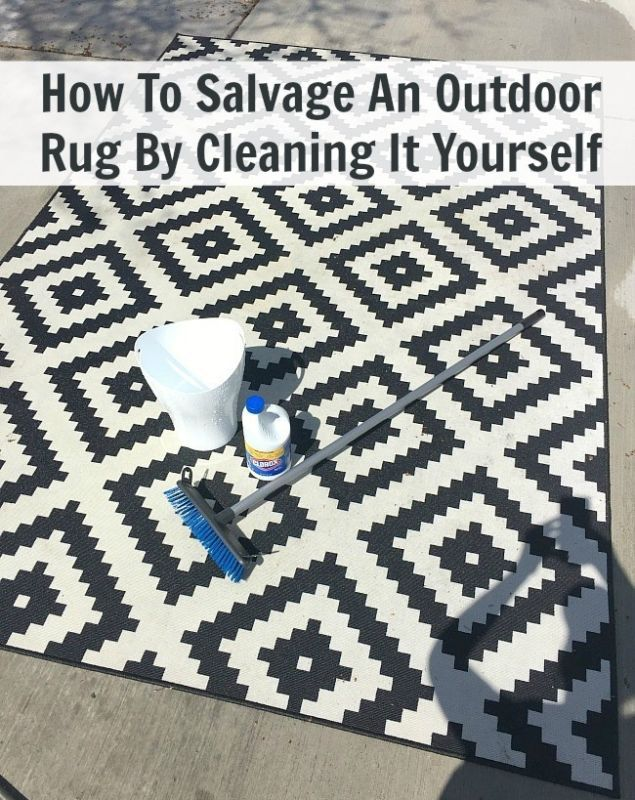 How To Salvage An Outdoor Rug By Cleaning It Yourself Outdoor