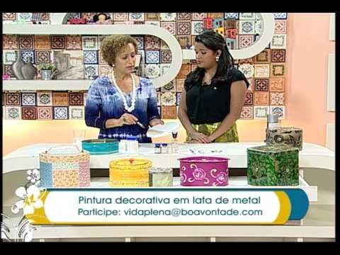 Lata Reciclada e Decorada Estilo Vintage ( ARTESANATO, DIY, RECICLAGEM ) - YouTube