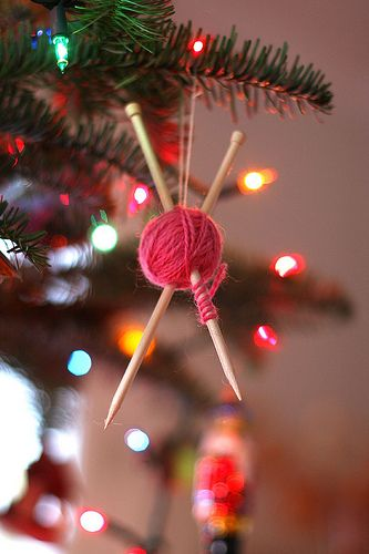 Knitting Tree Decoration make + do   ornaments Pinterest Tree