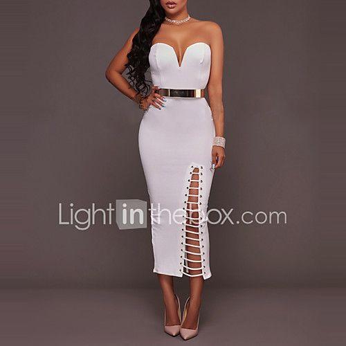 Mujer Corte Bodycon Vestido Fiesta Cóctel Discoteca Sexy Simple 701dc6e69f55