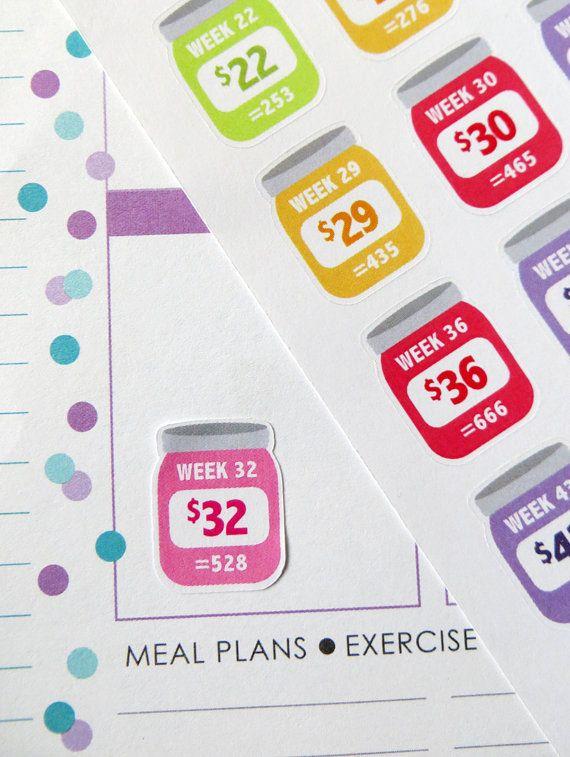Rainbow ORIGINAL 52 Week Savings Challenge Planner by KGPlanner