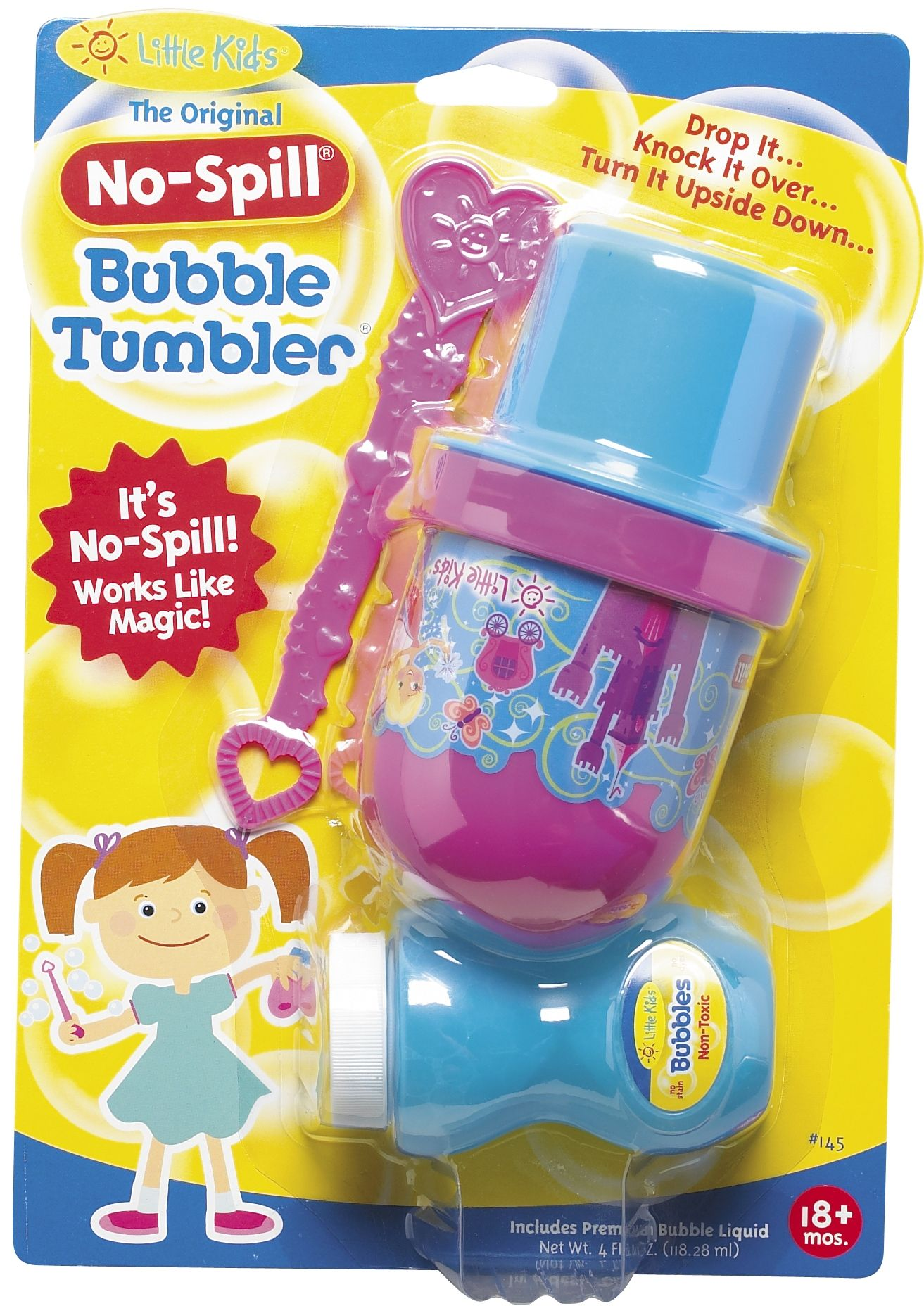 no spill bubbles.