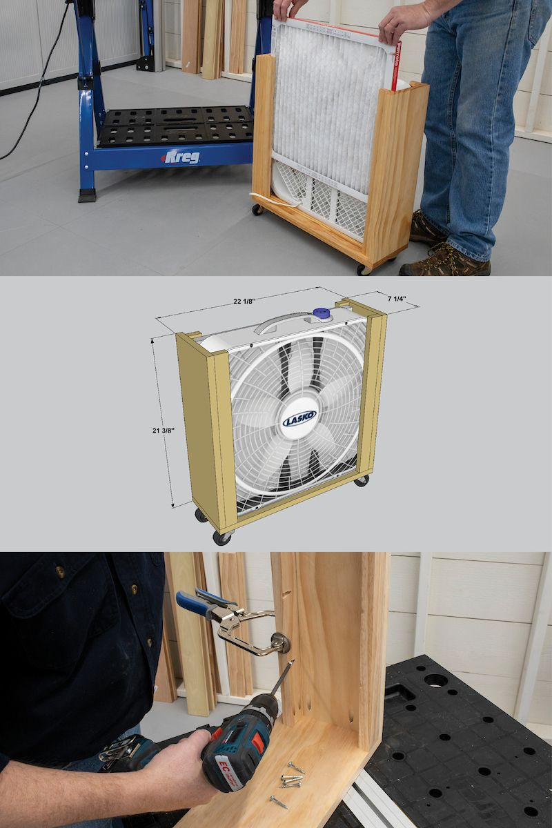 Free Project Plan How To Build A Diy Air Filter Woodworking Projects Woodworking Projects Diy Diy Woodworking