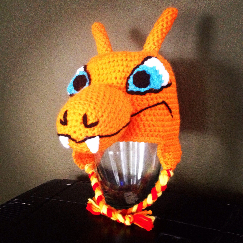 Crochet Charizard Pokemon hat $45 from www.facebook.com ...