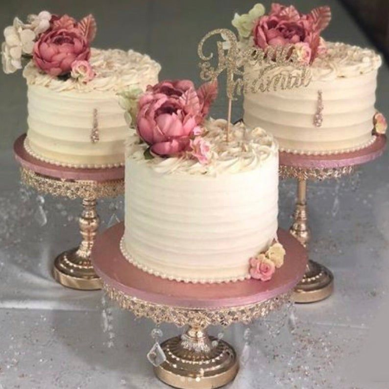 Cake stand set of 3 different sizes large 12 medium 10