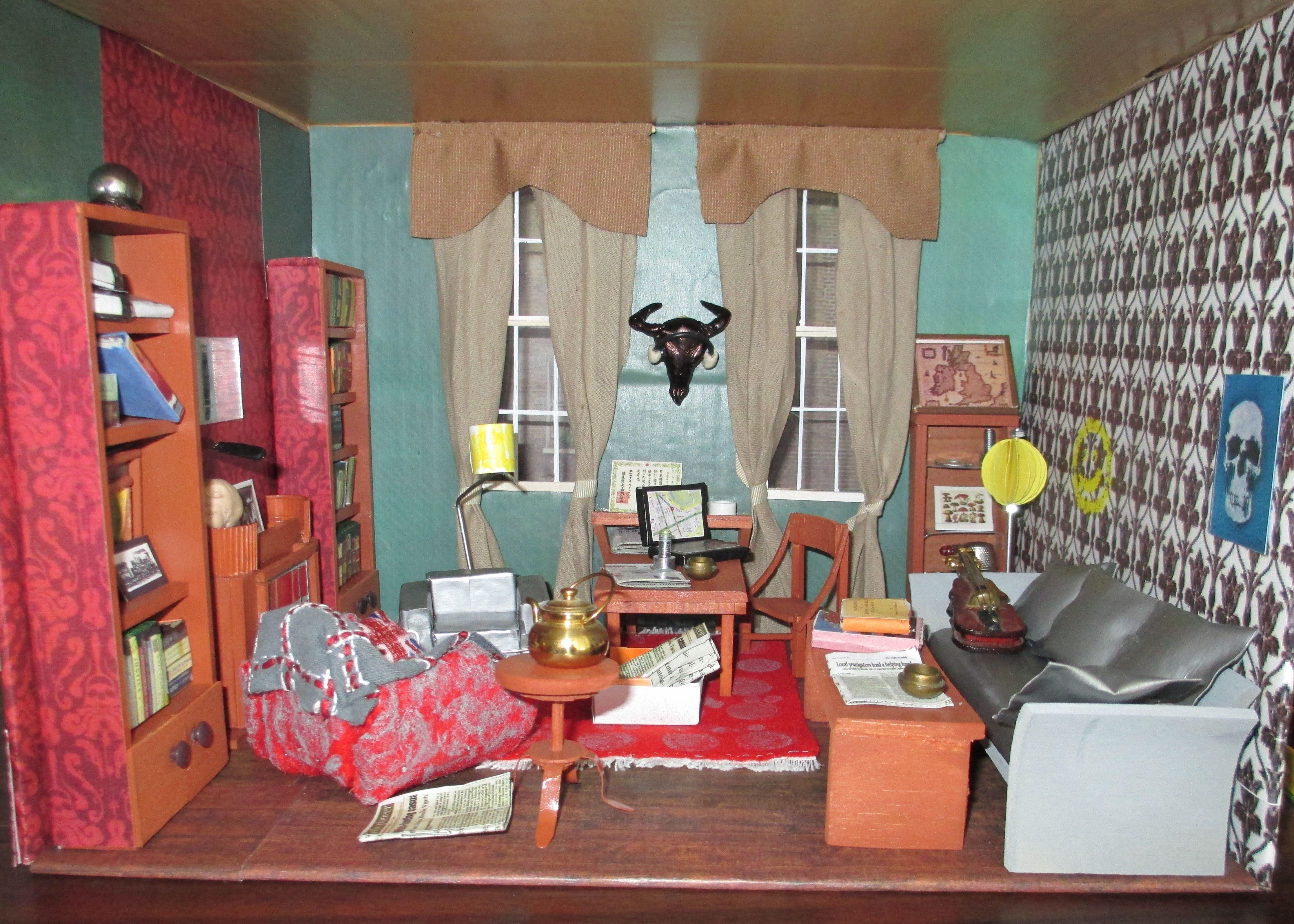 Living room victorian pinterest baker street sofas and 221b - 221b Baker Street Living Room With Props