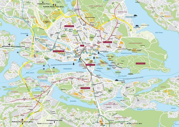 Stockholm Transport Map Maps Pinterest Stockholm Transport - Sweden tunnelbana map