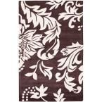 Soho Brown/Ivory 3 ft. 6 in. x 5 ft. 6 in. Area Rug