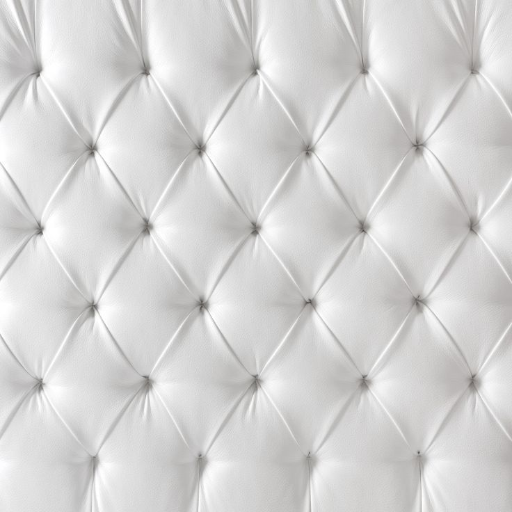 Tufted White Leather Pattern Bruk Som Tapet P