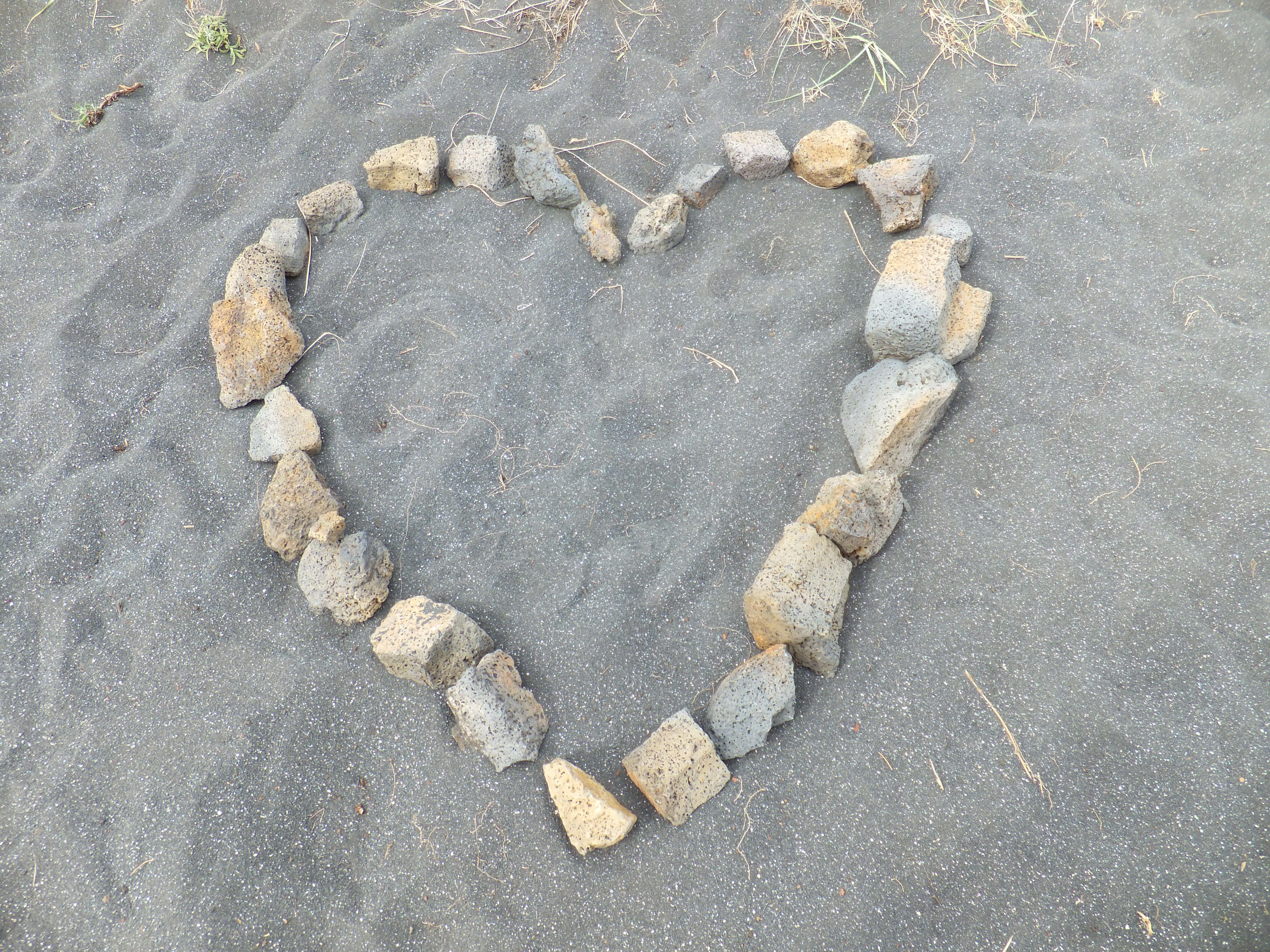 Lava Rock Heart on Iceland 2012