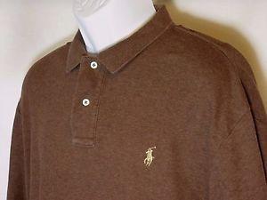 dark brown ralph lauren polo shirt