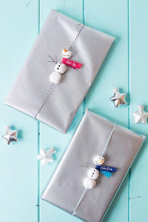Schneemänner – Geschenkverpackung