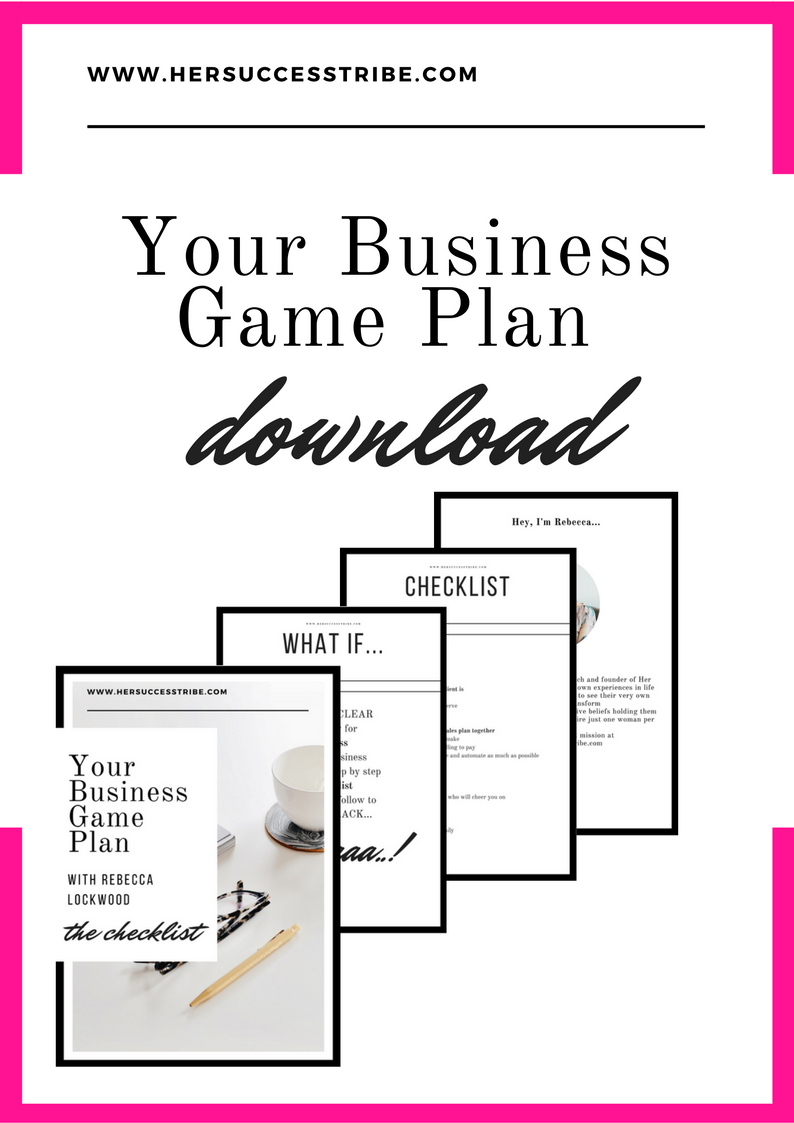 Game Plan 101 for the Female Entrepreneur Get your sales