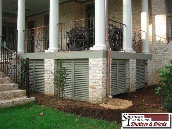 Under Porch True Louver Panels A Nice Alternative To Lattice