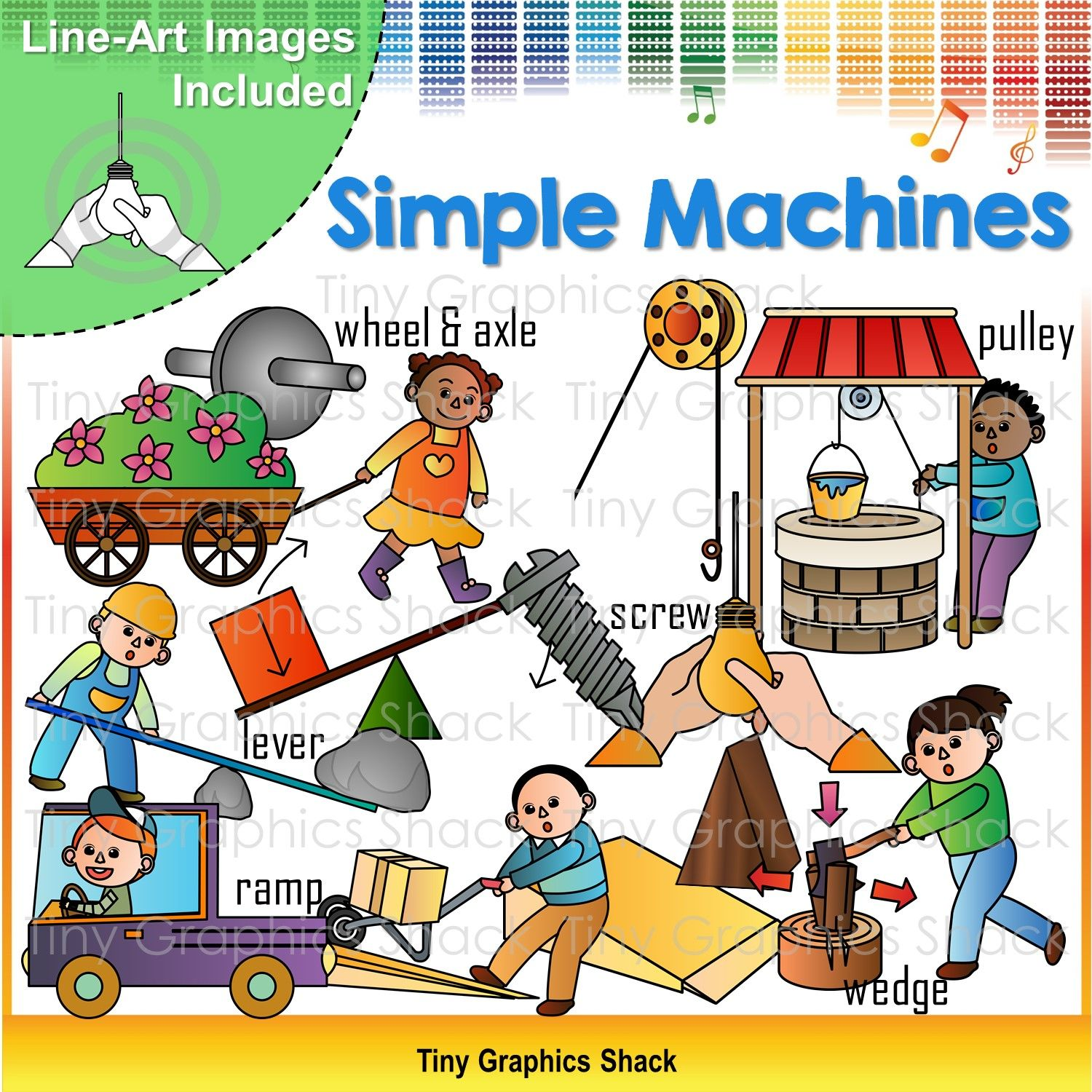 Force And Motion Simple Machines Clip Art With Images