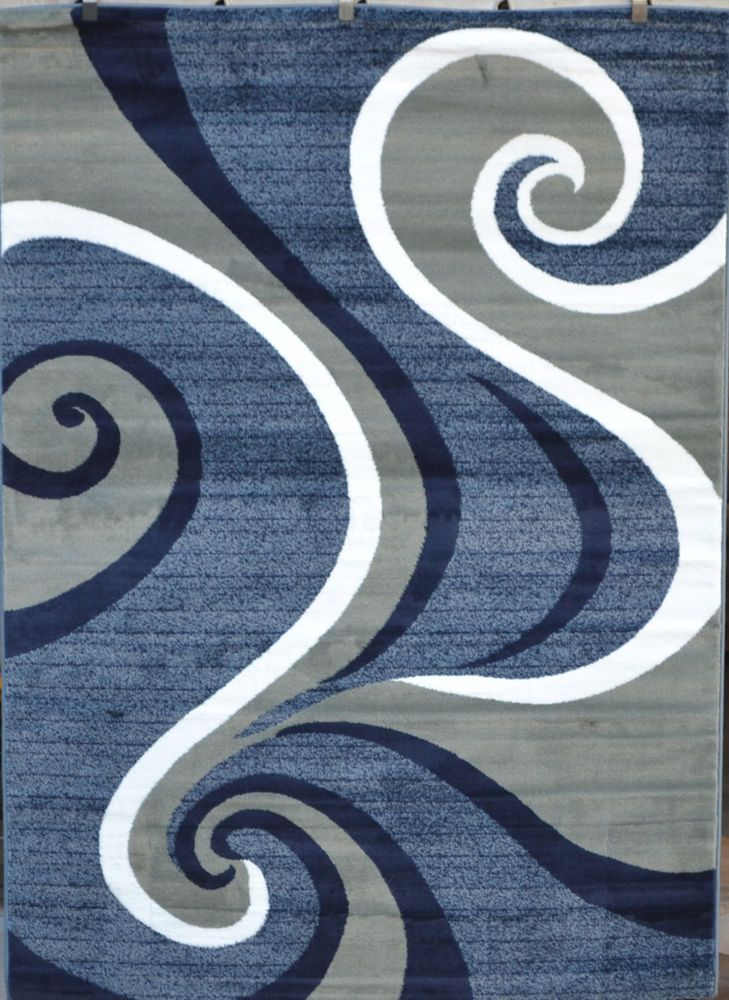 red blue purple gray turquoise black modern area rug comteporary carpet
