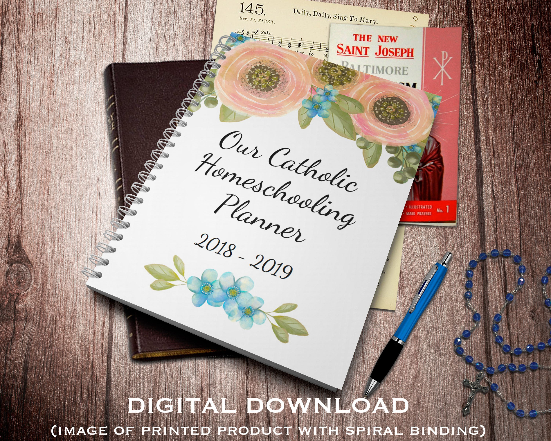 Catholic Homeschooling Planner Amp Family Organizer Digital