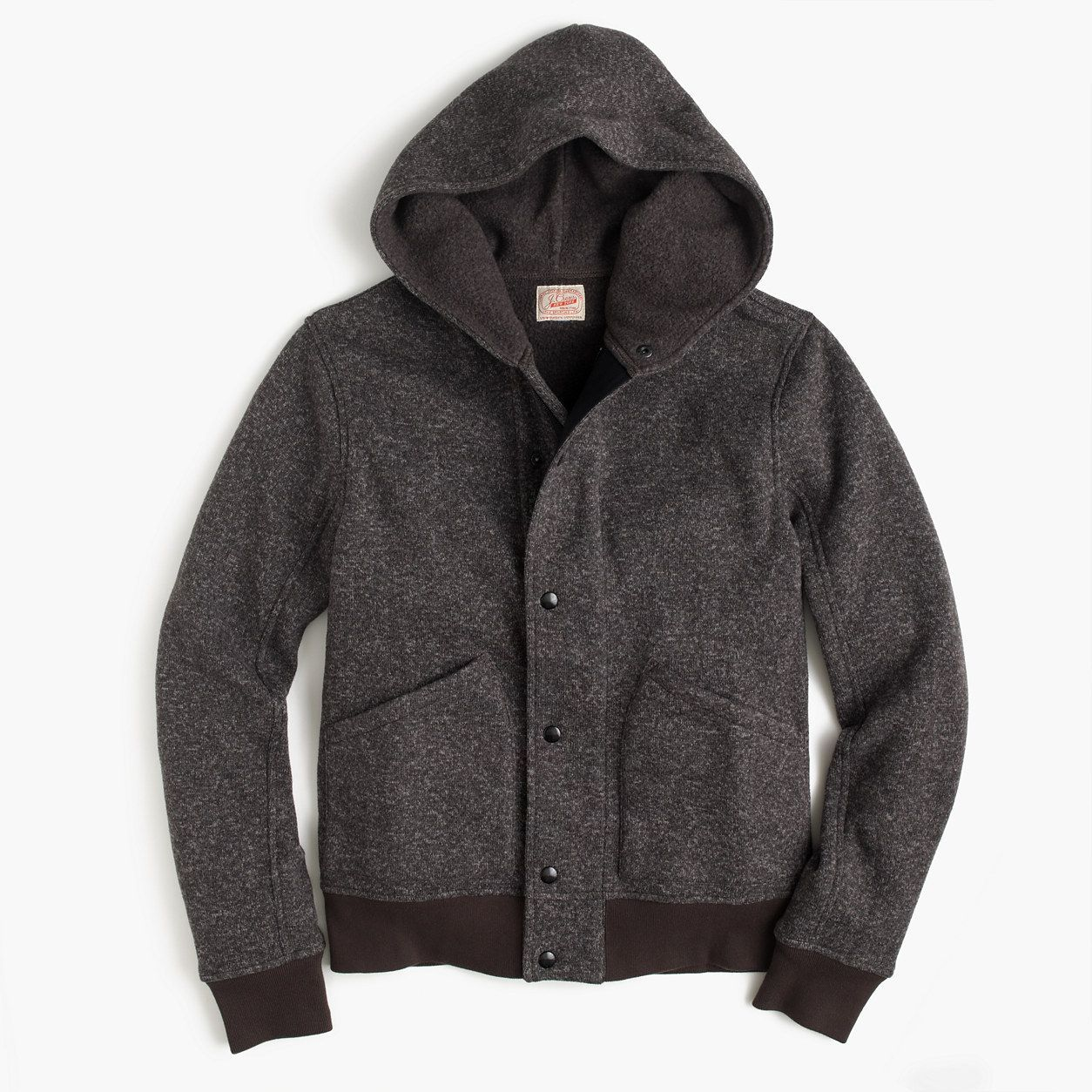 J.Crew Mens Summit Fleece Full-Zip Hoodie (Size L)