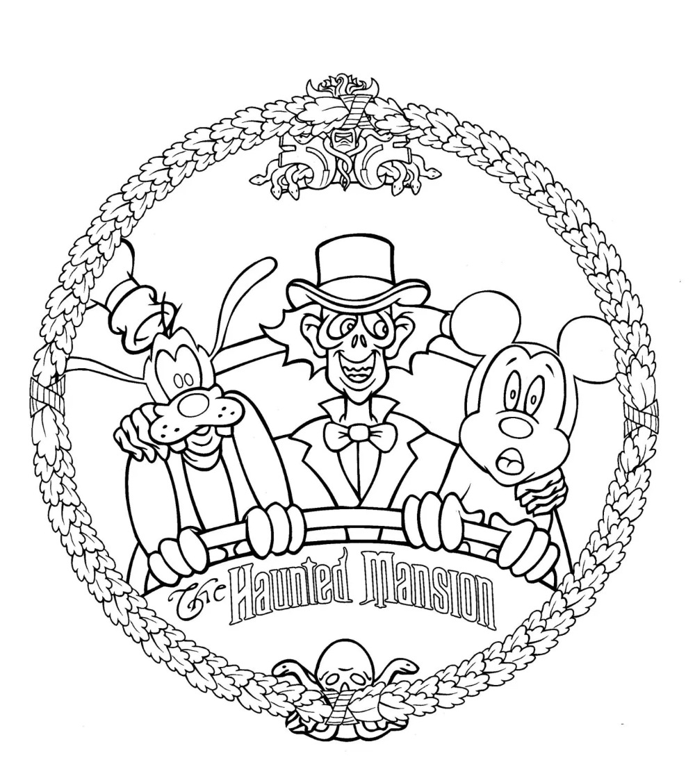 Walt Disney World Coloring Pages The Disney Nerds Podcast Disney Halloween Coloring Pages Halloween Coloring Pages Free Halloween Coloring Pages