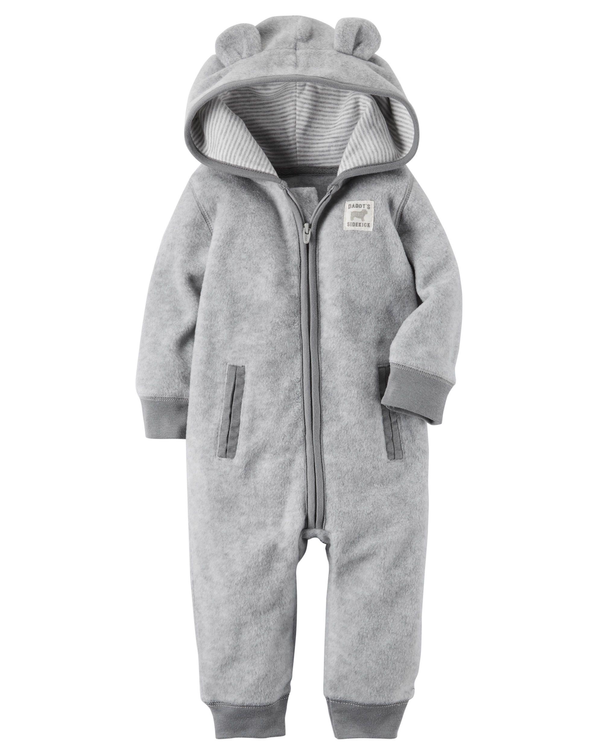 0a75d1049fc0 Baby Boy Hooded Fleece Jumpsuit