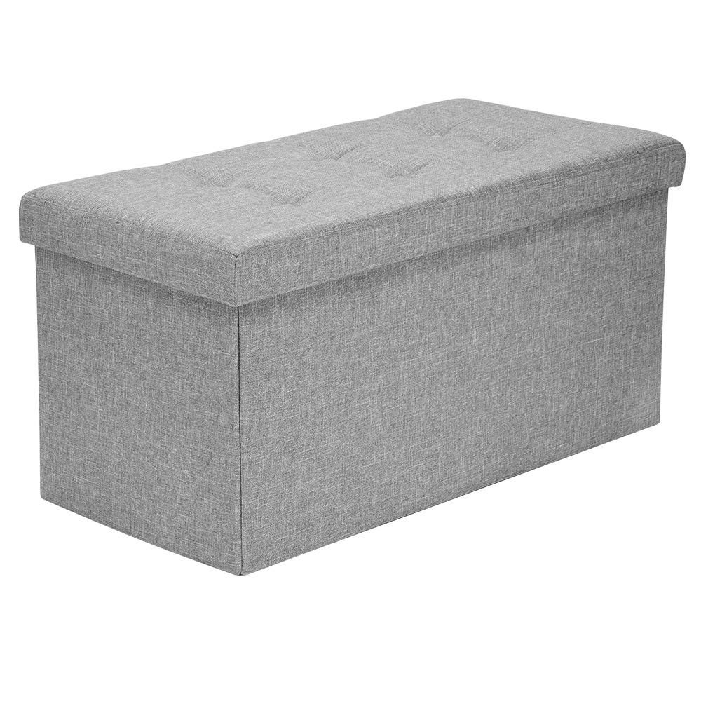 SortWise™ Storage Ottoman Folding Ottoman Organizer, Grey