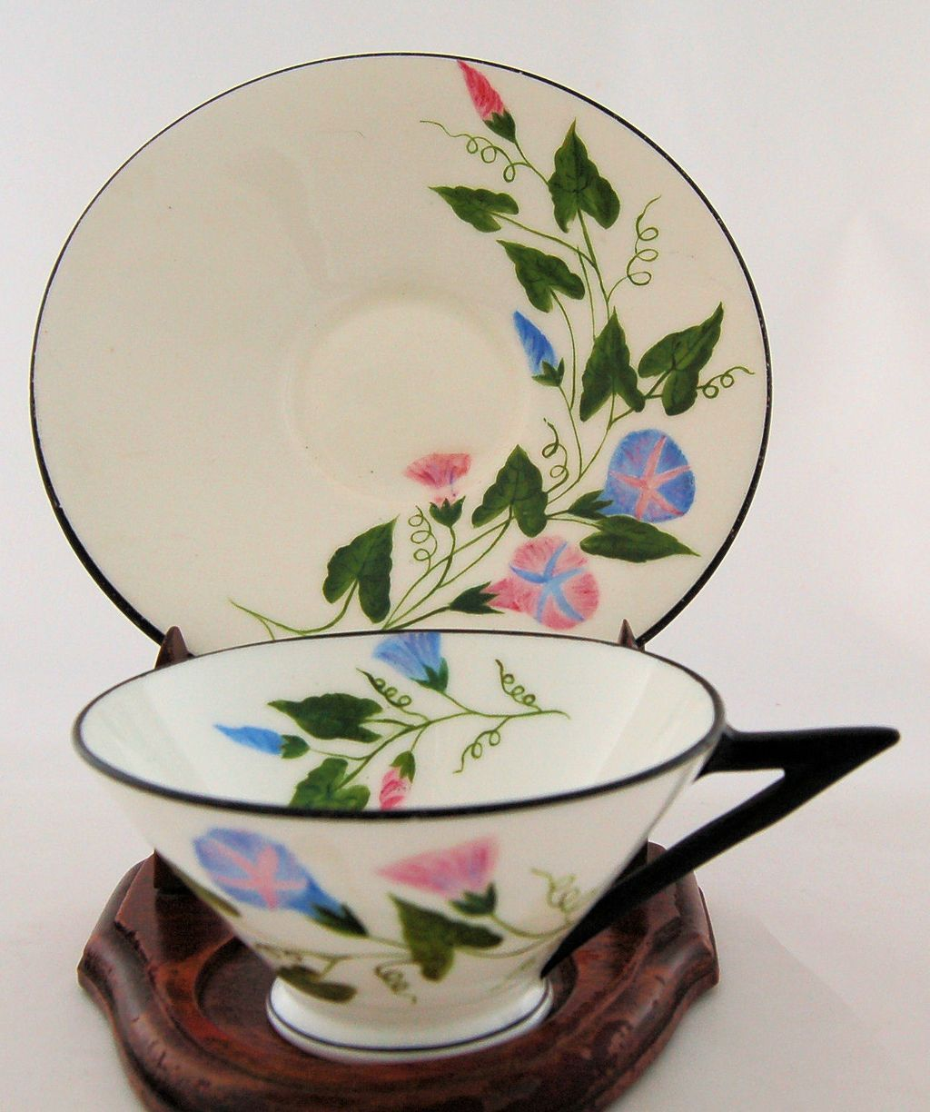 Antique Victorian Period Aesthetic Tea Cup and Saucer, ca. 1876