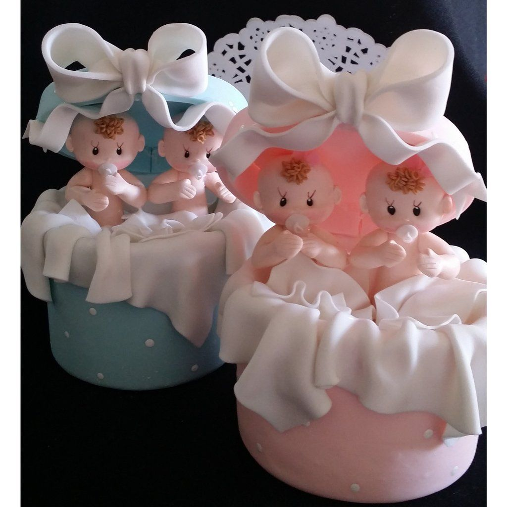 Twin Baby Shower Cake Toppers: Twins Baby Shower , Twins Cake Topper, Twins Babies Cake