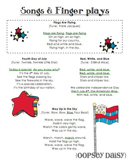 4th Of July Theme Songs And Fingerplays Ymca Fourth