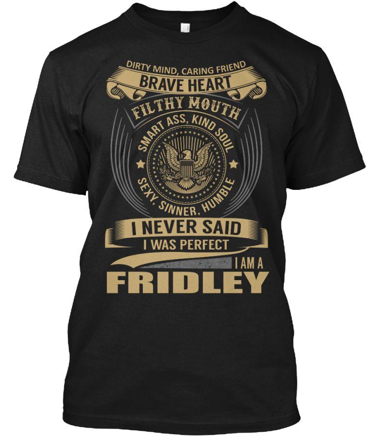 FRIDLEY - I Never SaidIWas Perfect