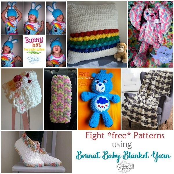 8 *free* Crochet Patterns that use Bernat Baby Blanket Yarn ...
